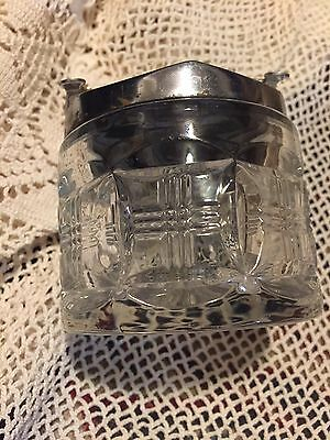 1950s SUGAR CUBE HOLDER WITH COOL CUBE GRABBER LID