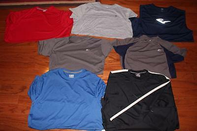 Lot 7 Adult Mens Athletic Tees Gym Compression Shirts Starter Fila Everlast 2Xl