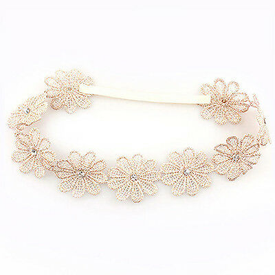 Baby Girl Toddler Embroidered Flower Elastic Headband Hair Band Headwear Special