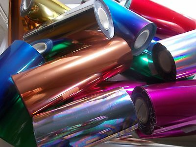 "TONER FOILS from 80p/metre, laminator, laser, Minc 4-7"" wide, 2 metre lengths"