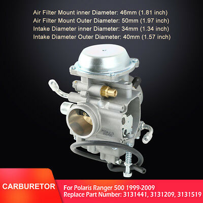 Carburetor For Polaris Ranger 500 99-09 UTV ATV Carb 3131441 3131209 3131519 New
