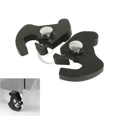 New Detachable Rotary Sissy Bar Luggage Rack Docking Latch Clips Lock For Harley