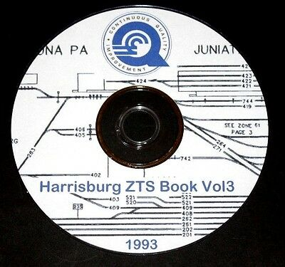"Conrail 1993 Harrisburg Division Zone-Track-Spot ""ZTS"" Maps PDF Pages on DVD"