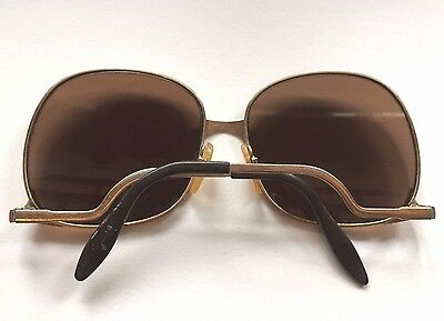 70s 18K GOLD Plated Vintage LUXOTTICA Sunglasses - disco retro - made in Italy