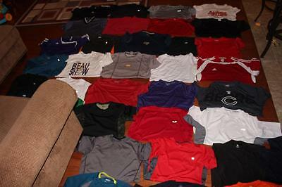 Huge Lot Of 35 Adult Mens Athletic Tees Gym Shirts Adidas Nike Reebok Fila Large