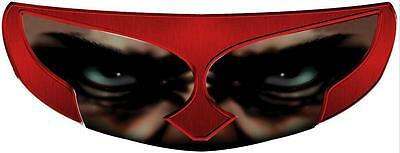 Skullskins Motorcycle Helmet Visor Shield Sticker - Gladiator Red