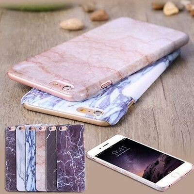 Printed Marble Pattern Shockproof Slim Hard Case Cover For iPhone 7 7 Plus 6s 6