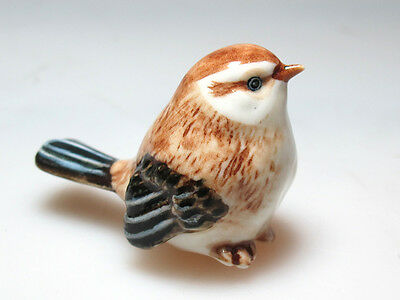 Handcrafted Miniatures Collectible Ceramic Porcelain Sparrow Bird FIGURINE