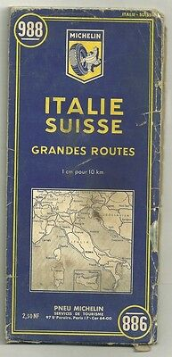 Card Tourist Michelin - Italy Switzerland large routes