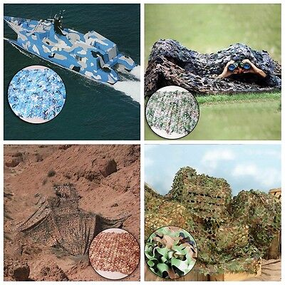 UK Camo Net Cover Camouflage Netting Hunting Shooting Camping Army Hide Colors