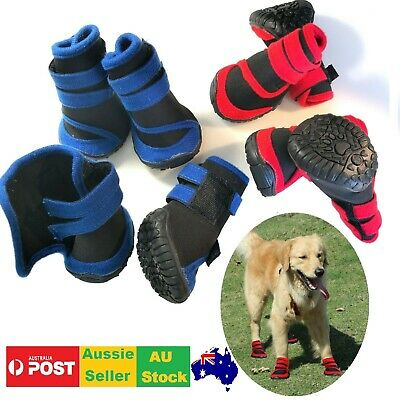Dog Cat Shoes Waterproof XXS,XS,S,M,L,XL,XXL Boots Booties Paws Injury Red/Blue