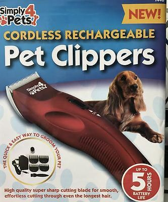 Codless Pet Hair Trimmer Clippers Grooming Dog Rechargeable Shaver Proffessional