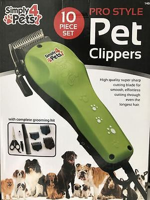 10Pc Pet Hair Trimmer Clippers Grooming Dog Shaver Professional