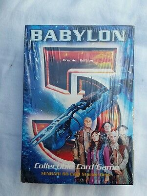 Babylon 5 Premier Edition Minbari Starter Deck - Factory Shrink Wrapped Unplayed