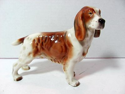 "Vintage GOLDCREST SPRINGER Dog Ceramic Arts Figurine Studio Piece 5"" Tall"