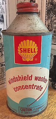 Vintage Shell Windshield Washer Concentrate Can - Gas Station & Oil Advertising