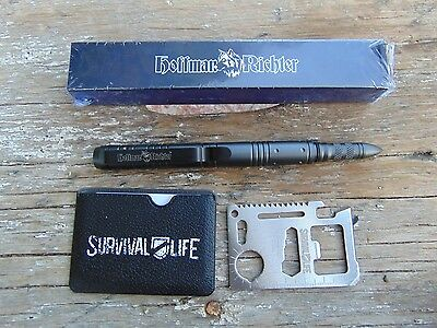 Hoffman Richter Stinger Tactical pen Aircraft Aluminum construction,NIB! + bonus