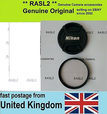 Genuine Original NIKON  LC-52 52mm Front LENS CAP snap fit + SkyLight A1 Filter