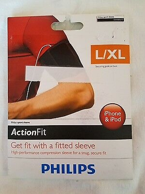 Philips Action Fit Sport Sleeve Armband for iPhone,  iPod, size L/XL