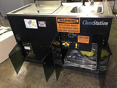 PM Technologies CleanStation SRS II wash station,wash bench