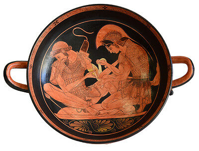 Achilles binding Patroclus wounds Kylix - Sosias Painter - Berlin Museum Replica