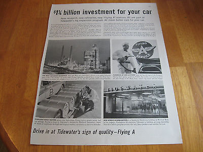 1961 Flying A Gas Oil Company  print  magazine ad lot
