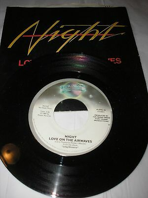 "NIGHT Love On The Airwaves / Day After Day 7"" 45 rpm 1980 Planet NM Vinyl in PS"