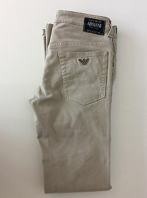 Armani Junior Boys Jeans Beige Slim Fit Age 12 Years / 154cm Skinny