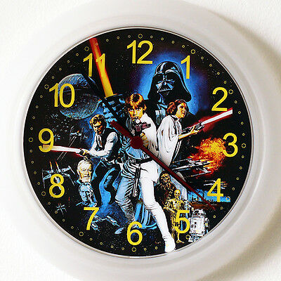 STAR WARS Wall Clock - New 24cm movie New Hope Original Trilogy Christmas Gift