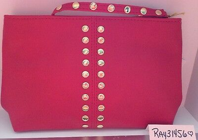 Elizabeth Arden Cosmetic Makeup Case Bag PouchCase Zippered NEW RED & GOLD