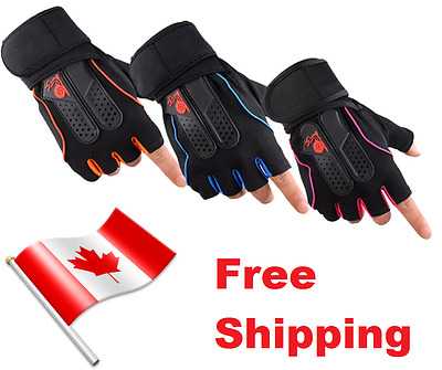 Weight Training Gym Gloves Heavier Lifts Support Wrist Wrap Stylish & Quality