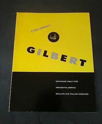 Vintage Cincinnati tool, Gilbert machine brochure specs, Machinists