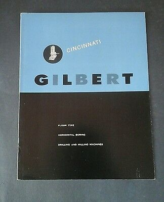 Vintage Cincinnati tool, Gilbert machine brochure, Machinists drilling/milling