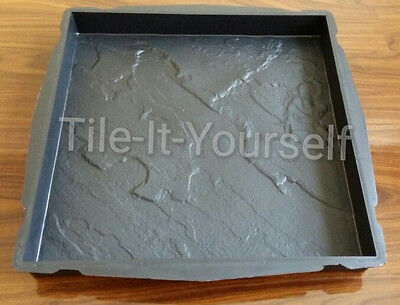 *Riven Paving* Plastic Concrete Mould Garden Floor Tile Slab Paving Decking