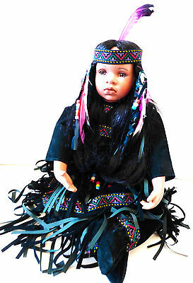 Native American Indian Girl Doll Timeless Collection Limited Edition 487/2500