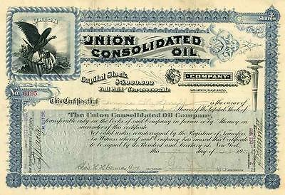 1902 Union Consolidated Oil Stock Certificate
