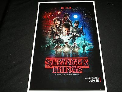 """MILLIE BOBBY BROWN Signed 11x17 POSTER Stranger Things """"11"""" Autograph RARE"""