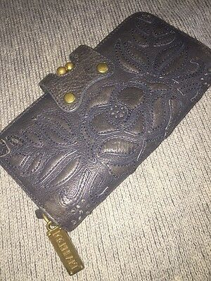Gorgeous Navy Blue Leather LOCKHEART Ladies Wallet With Kissing Lock