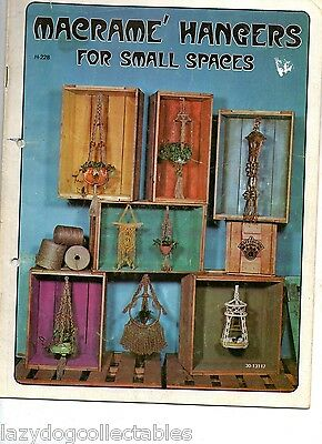 Macramé Twine x 3  and Pattern Book Wall Hangings for small spaces