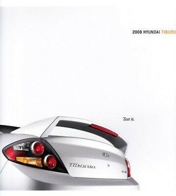 2008 08  Hyundai Tiburon  original sales brochure MINT