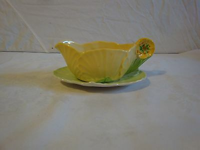 Carlton Ware Flower Handled Small Gravy Boat Sauce Boat And Underplate