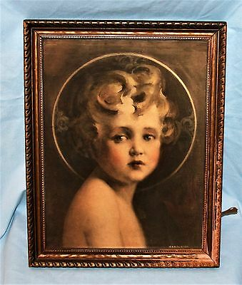 Vintage Gold Gilt Wood Picture Art Frame Small Child Print
