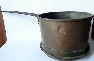 Antique Primitive HearthWare 19th Century Copper Iron POT KETTLE Historical