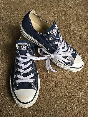 CONVERSE ALL STAR Blue Canvas Lace Up Shoes M6 W8 EUC!