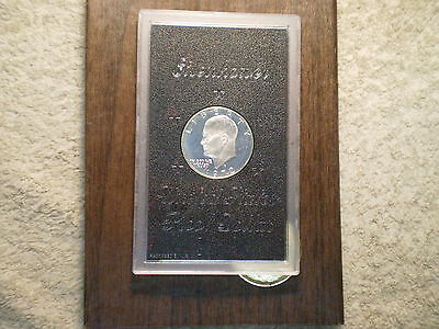 1972 S Proof Silver Ike Dollar In Original Brown Box