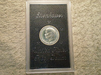1974 S Proof Silver Ike Dollar In Original Brown Mint Box