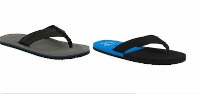 0dd15c64e2ad9 OCEAN PACIFIC MENS Surf BEACH SANDAL Op FLIP FLOPS Black   Blue   Grey Sz 9