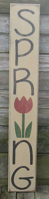 """Primitive  Country Vertical Spring  36""""   Sign"""