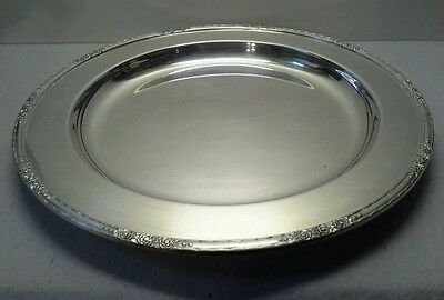 """VINTAGE International Silver """"Camille"""" 14"""" Round Silver Plated Platter"""