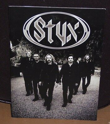 STYX tour book concert souvenir program Tommy Shaw James Young Chuck Panozzo